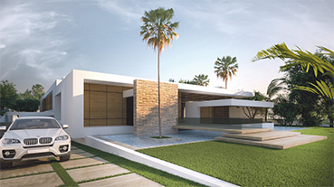 Photo facade villa moderne exceptional estate in antibes for Facade maison moderne